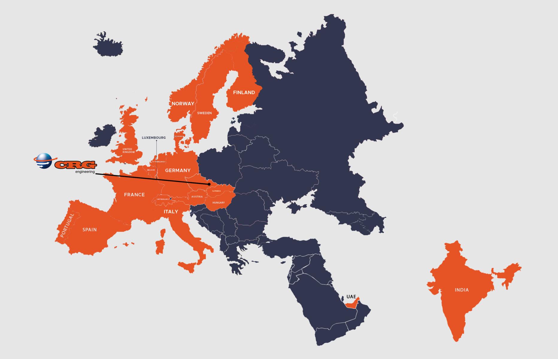 CRG Czech - Customers world map